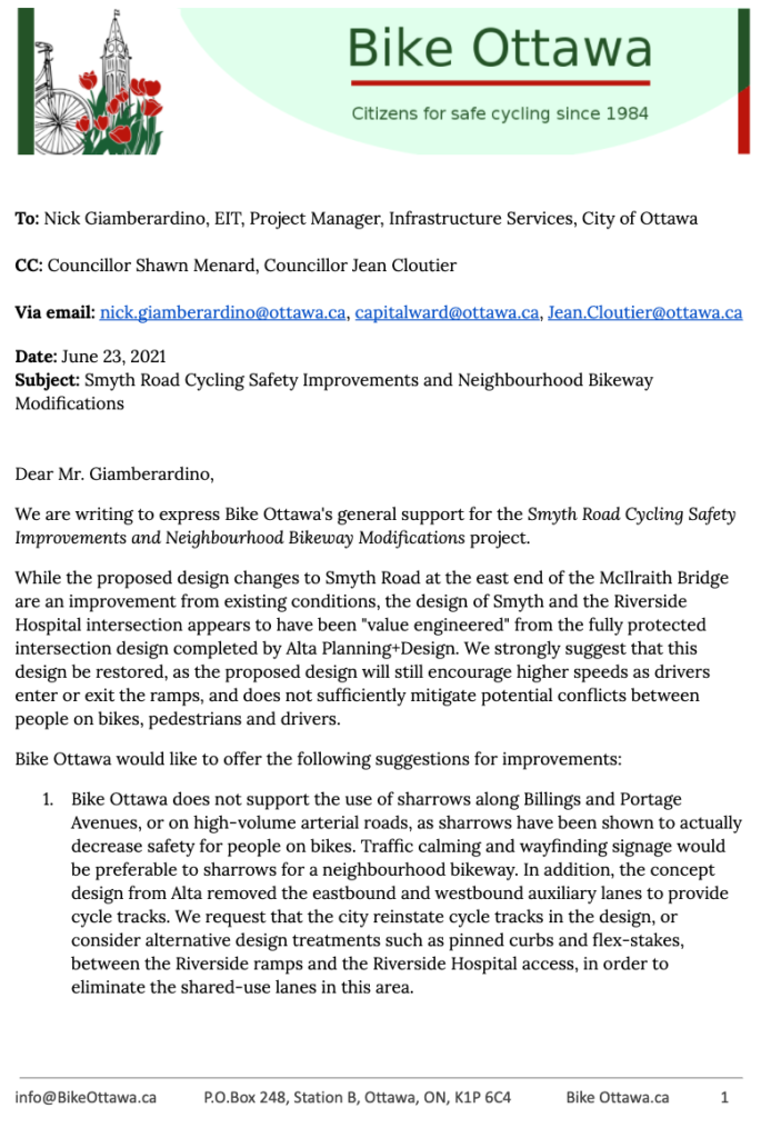 Page 1 of our letter (text version below)